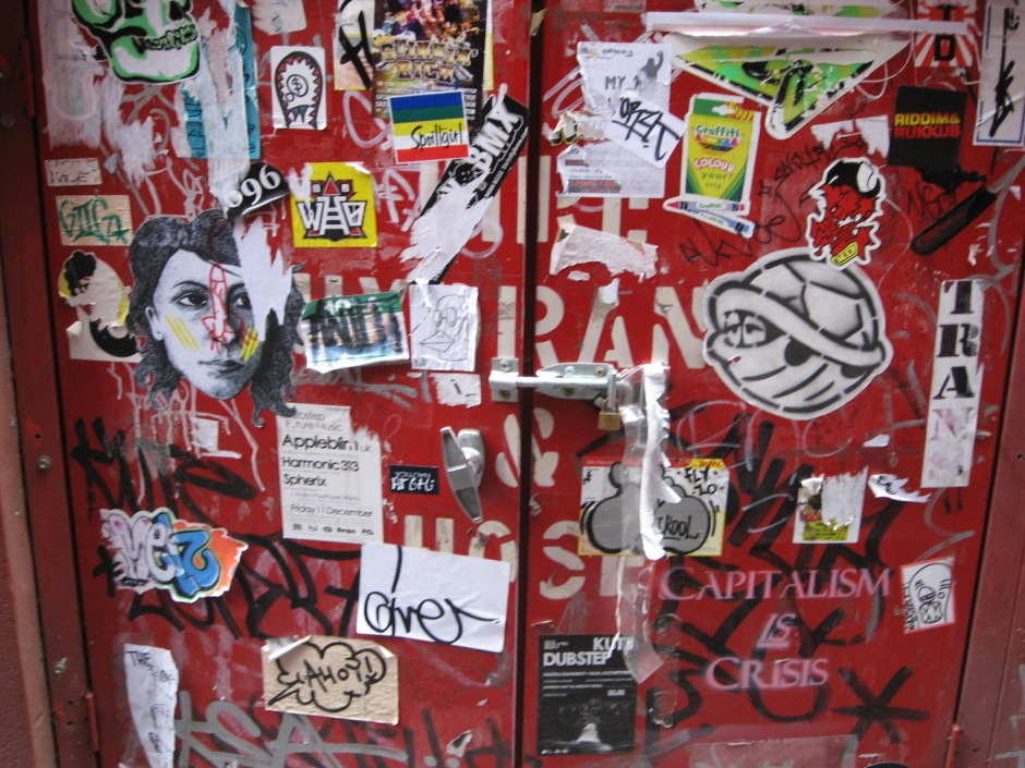 slap art, slaps, stickers, street art, graffiti, grafitti, Is It Art?, Maryann Adair,
