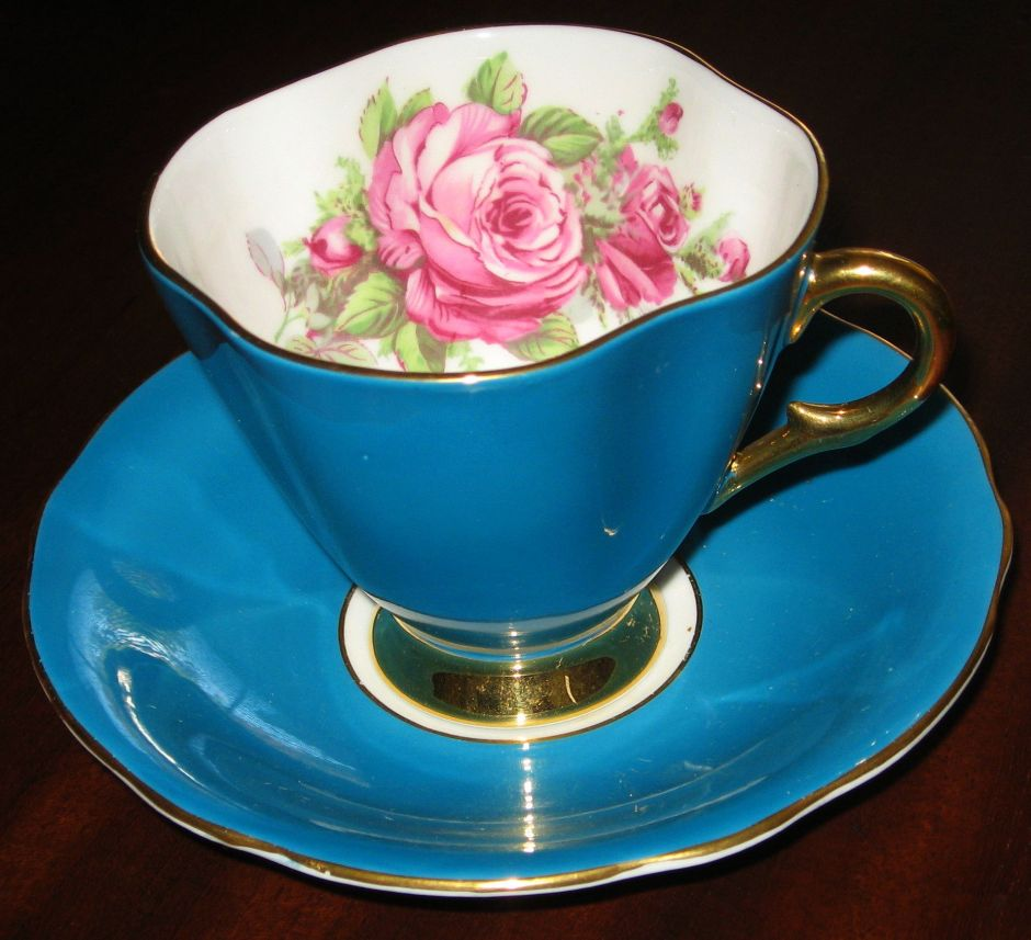 Windsor bone china, porcelain, tea cup and saucer, Is It Art?, Maryann Adair,