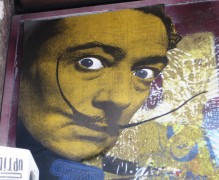 Phoenix does Dali, Salvador Dali, Phoenix the Street artist, street art, Is It Art?, Maryann Adair,