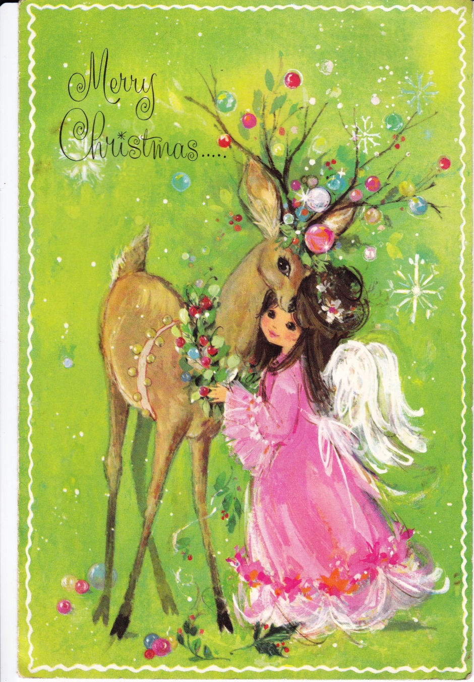Vintage Christmas Sands Greeting card, Merry Christmas, vintage cards, card design, Is It Art?, Maryann Adair,