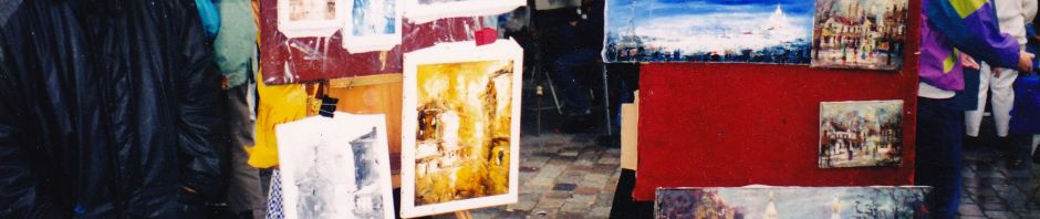 artist square Montmartre, Paris, art, artists, tourists, Is It Art?, Maryann Adair,