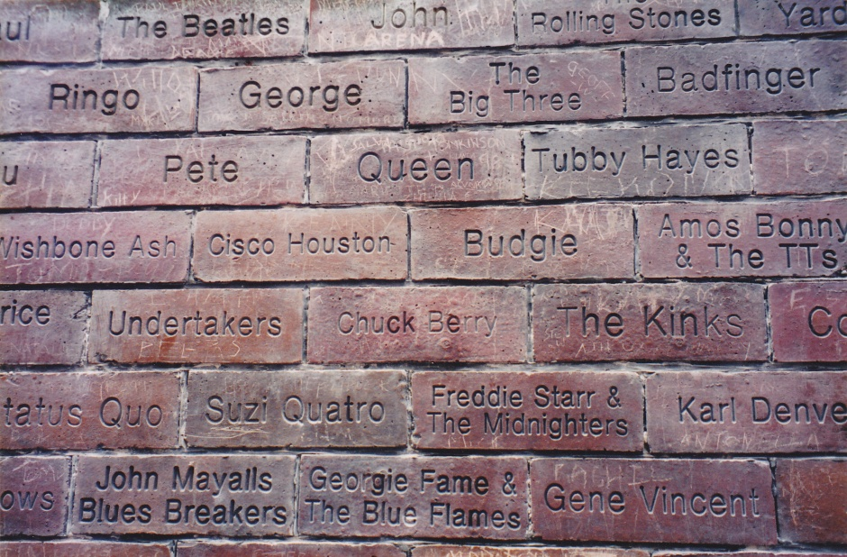 Cavern Club wall Mathew street Liverpool