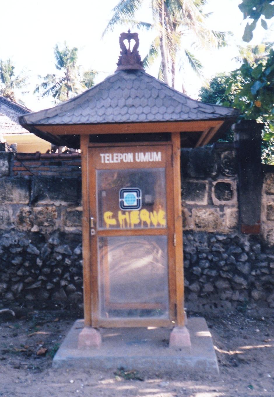 Bali public telephone box