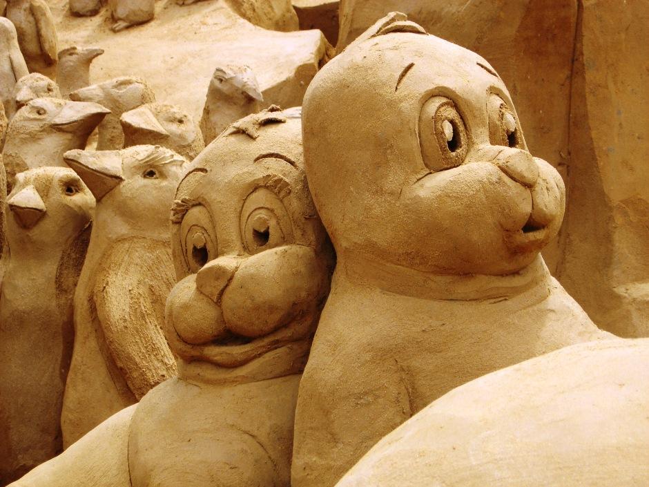 Sand Art - the bergs