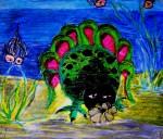 crayon deepsea monster
