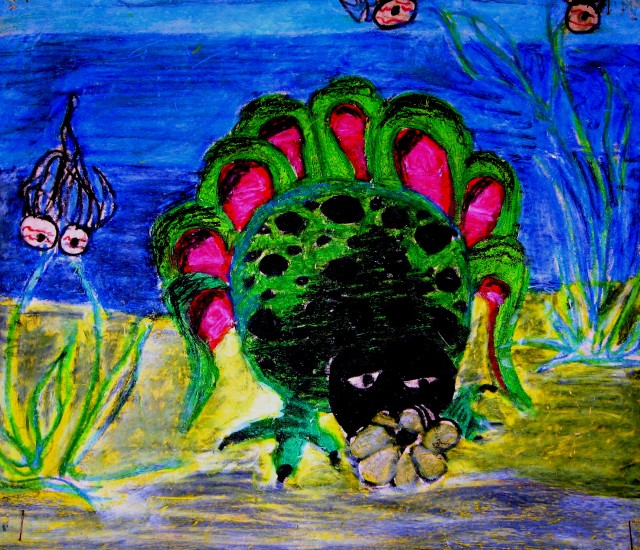 crayon deepsea monster