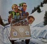 VW Combi | Last of the ski bums | Movie poster