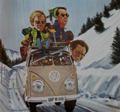 VW Combi | Last of the ski bums | Movie poster (1969)