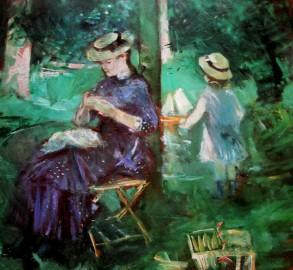 Berthe Morisot - woman-&amp child in a garden