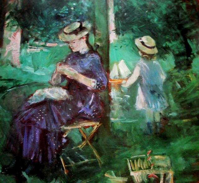 Berthe-Morisot-woman-&-child-in-a-garden