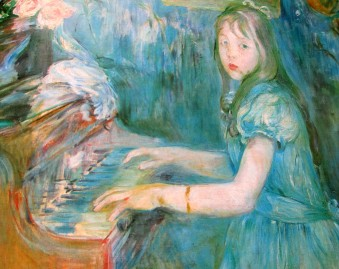 Berthe Morisot - Lucie Leon at the Piano, Impressionists, French Impressionists, artworks, art, is it art?