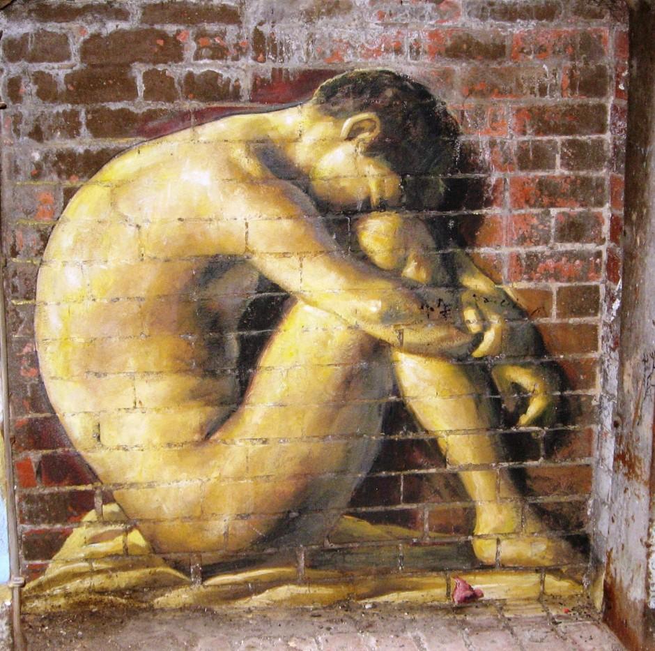 Hippolyte Flandrin - street art interpretation