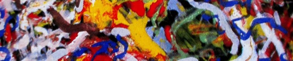 Jackson Pollock - Blue Poles detail