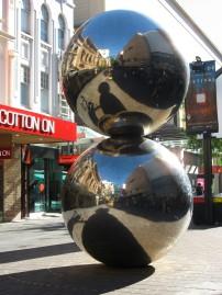 Bert Flugelman sculpture Malls Balls