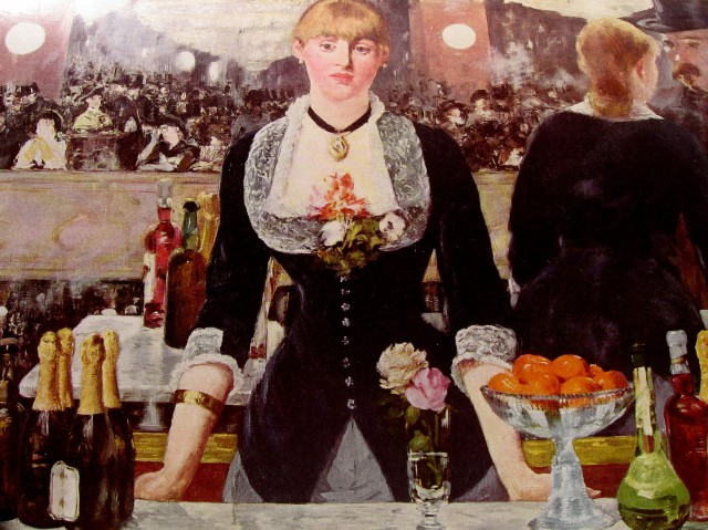 manet - A bar at the Folies Bergere manet