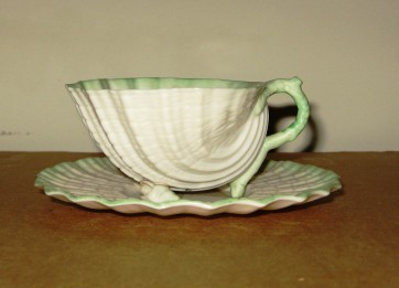 Belleek Neptune teacup and saucer