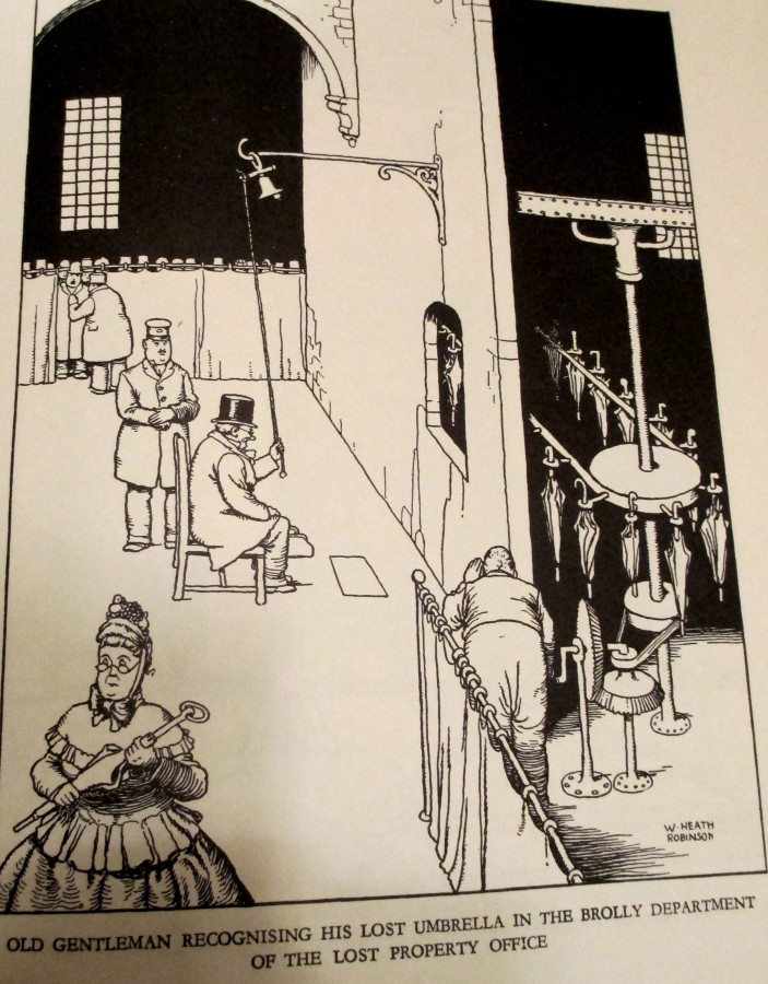 Typical invention from Heath Robinson book illustration
