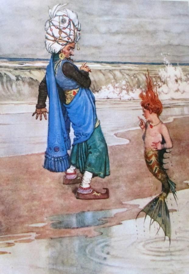 Heath Robinson   Sultan and Mer-kid   book illustration