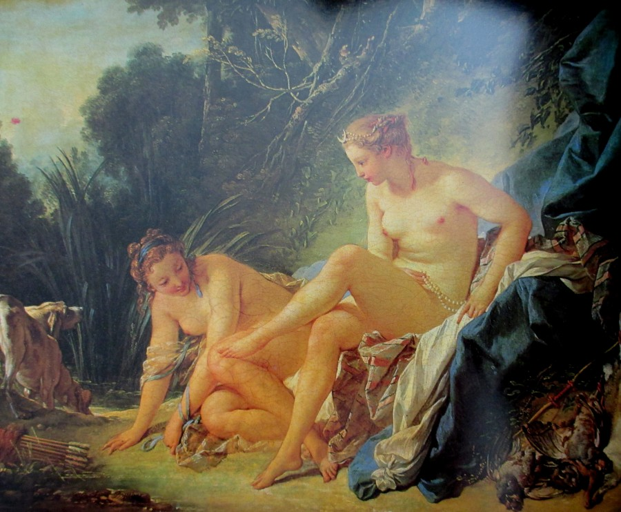 Francois Boucher - Diana resting after leaving her bath