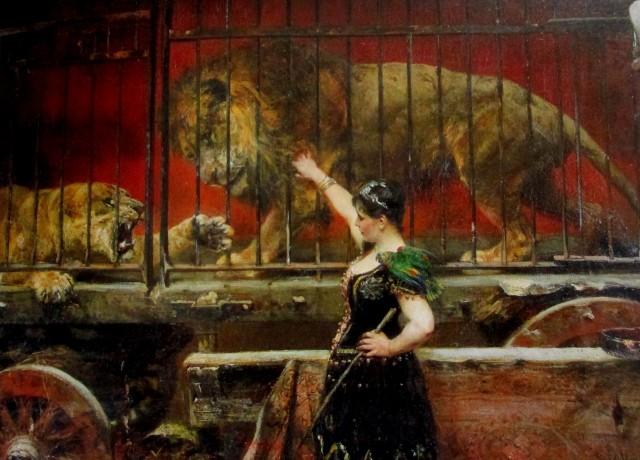 paul meyerheim - jealous lioness 1885-90