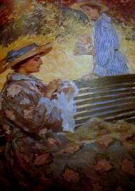 Rupert Bunny - The garden bench