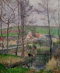 camille pissarro - banks of the viosne at osny