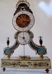 joseph coteau skeleton clock