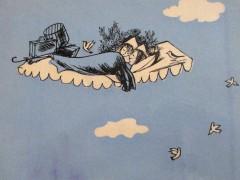 Raymond Peynet - blue illustration