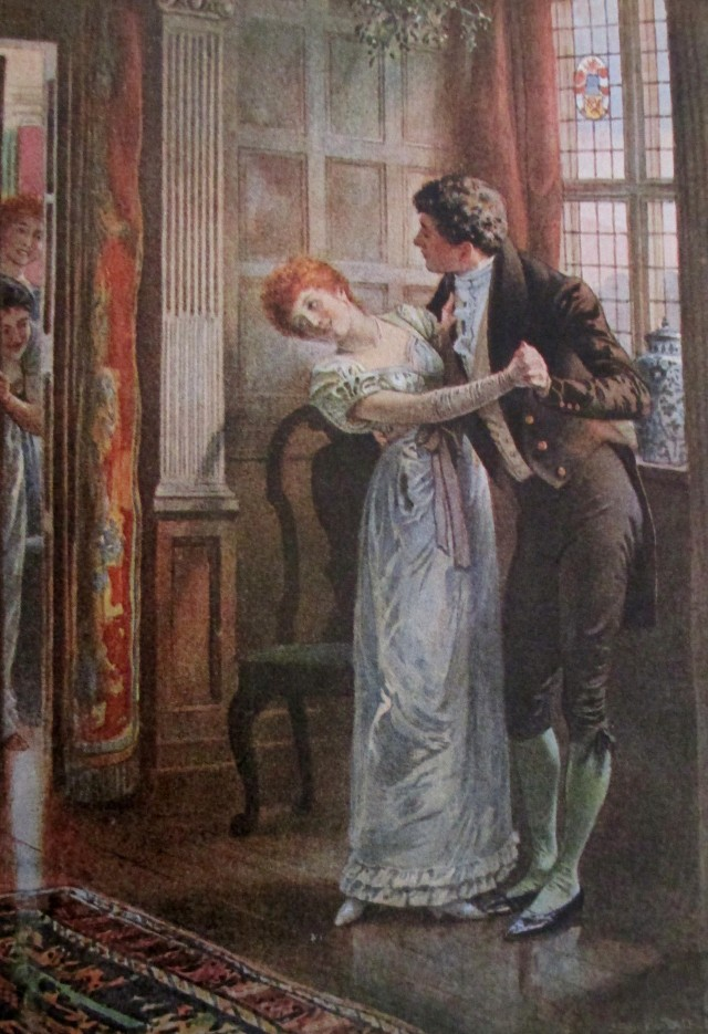 edward frederick brewtnall - under the mistletoe