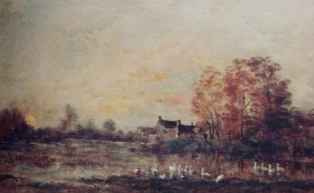 daubigny marsh at sunset 1861