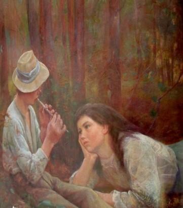 Frederick McCubbin - bush idyll detail