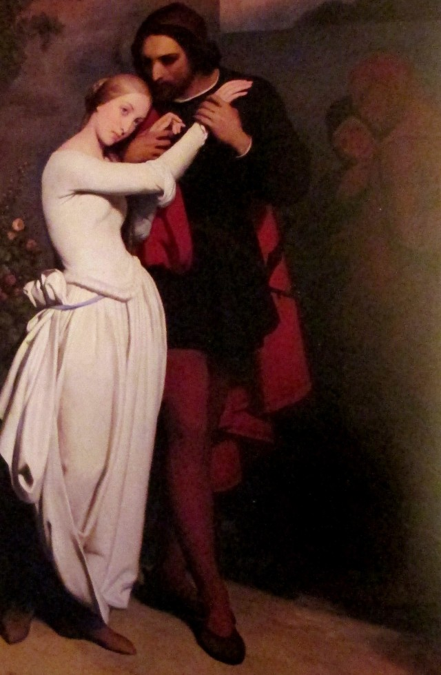 ary scheffer - marguerite and faust in the garden