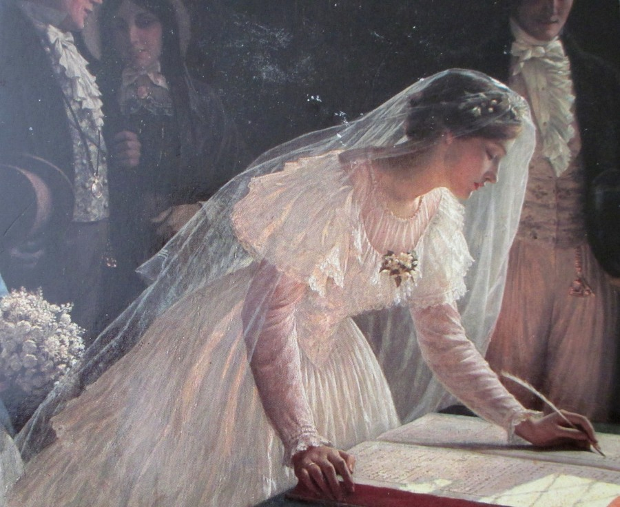 Edmund Blair Leighton - Signing the Register, artworks, art, is it art?