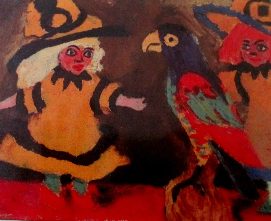 Emil Nolde - puppan un papagai