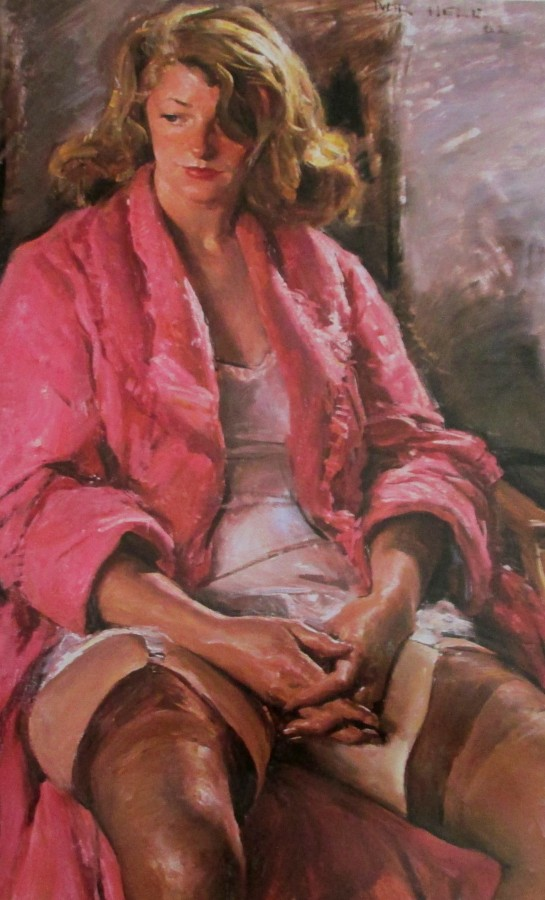 Ivor Hele - Pink Dressing Gown