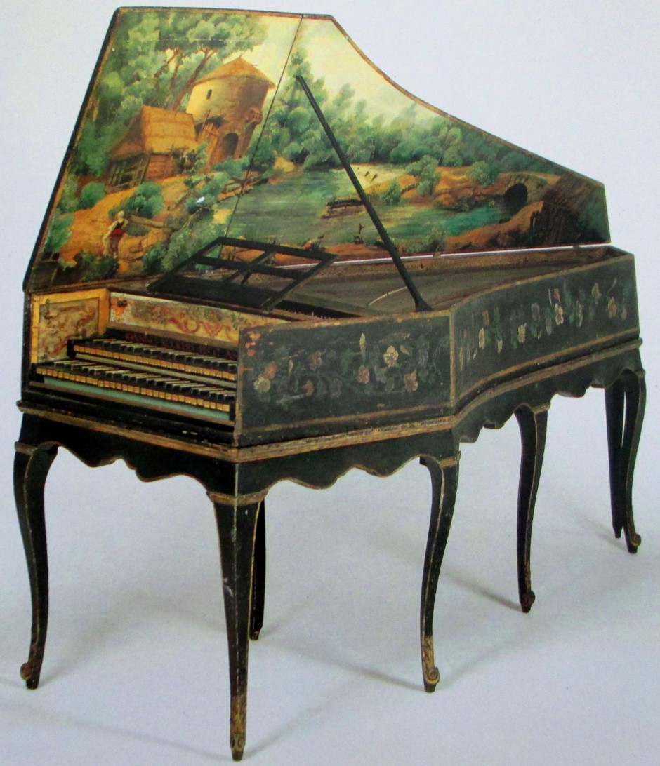 Andreas Ruckers, Two-manual Harpsichord, harpsichords, painted harpsichords, pianos, art, is it art?