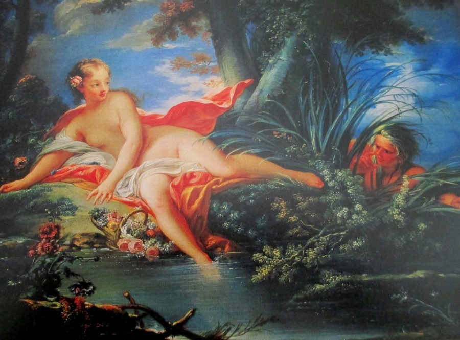Francois Boucher - the surprised bather, French artists, is it art?