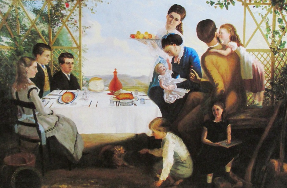 Charles Hill - artist and his family, is it art?