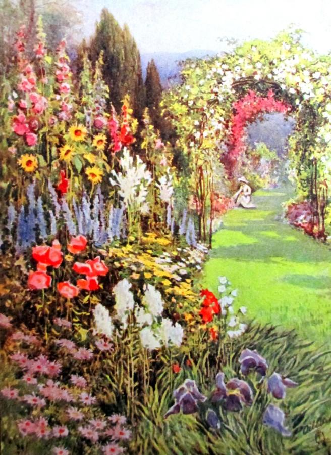 E L Hampshire - all in a garden fair