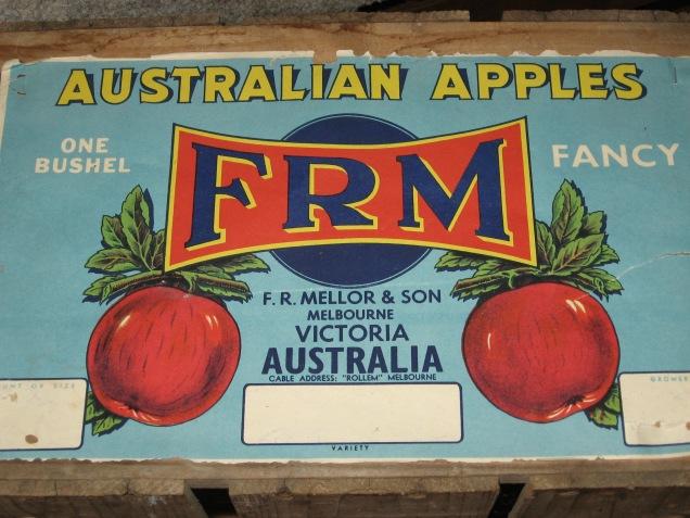 Apple labels, Australian apples, Mellor's Apples, Harcourt apples, fruit box illustrations, is it art?