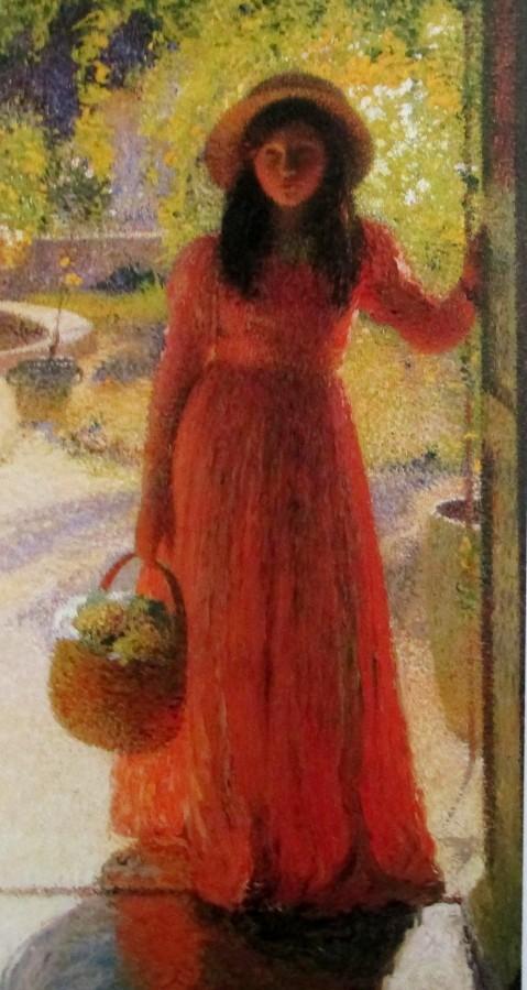 Henri Martin - Gabrielle at the Garden Door