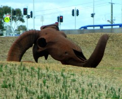 Dean Coll, Rex Australis, sculpture, Peninsula Link Freeway,, is it art?