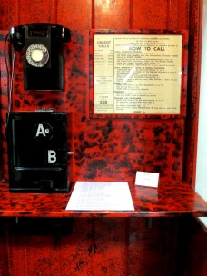 Long Tom, telephone, bakerlite telephones, telephone booth, museum,