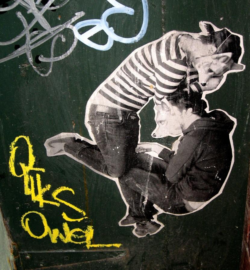 Miso & Ghostpatrol Niagara Lane, street art, street artists, wheatpastes, wheaties, is it art?