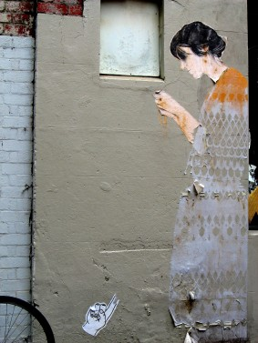 Miso wheatpaste, Melbourne, street art, street artists, is it art?