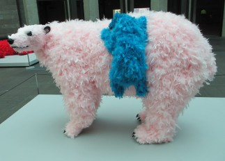 Paola Pivi - bear hug, is it art?