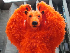 Paola Pivi- orange bear, is it art?