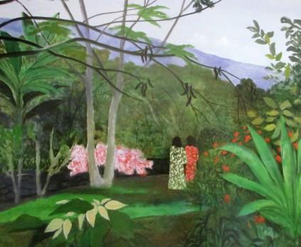 Ray Crooke, In the Garden, Napoopoo Hawaii, Australian artists, is it art?