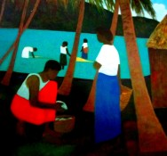 Ray Crooke, Lagoon Fiji, Australian artists, is it art?