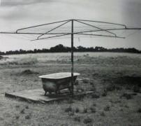 Rex Dupain - Backyard with Bathtub, photography, Dupain, clothes line, bathtub, is it art?